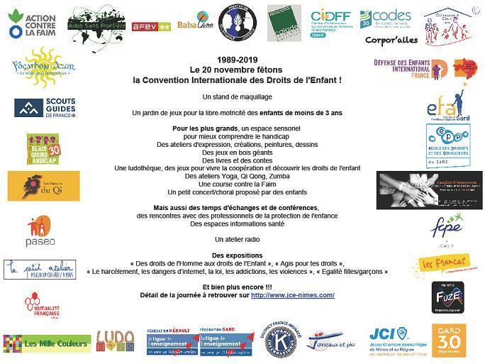 1989-2019 Le 20 novembre fêtons la Convention Internationale des Droits de l'Enfant !