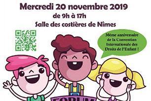 Affiche du Forum des enfants 2019 à Nîmes
